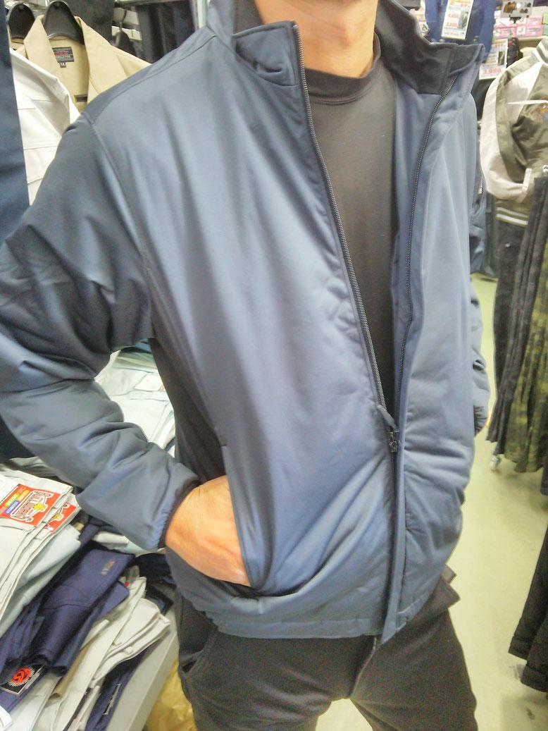 TS DESIGN~TSデザイン~6626 防風ストレッチライトウォームジャケット  1枚で充分な暖かさです。
