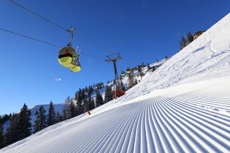 Ski fahren auf der Skischaukel Großarltal-Dorfgastein