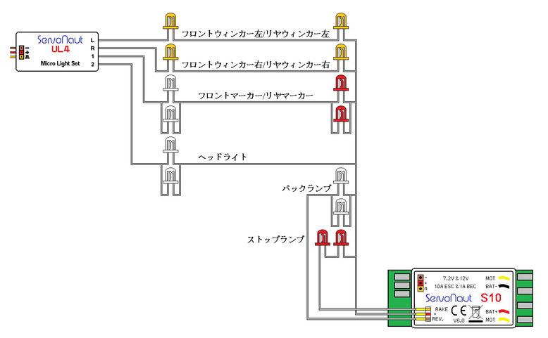 S10とUL4の配線例