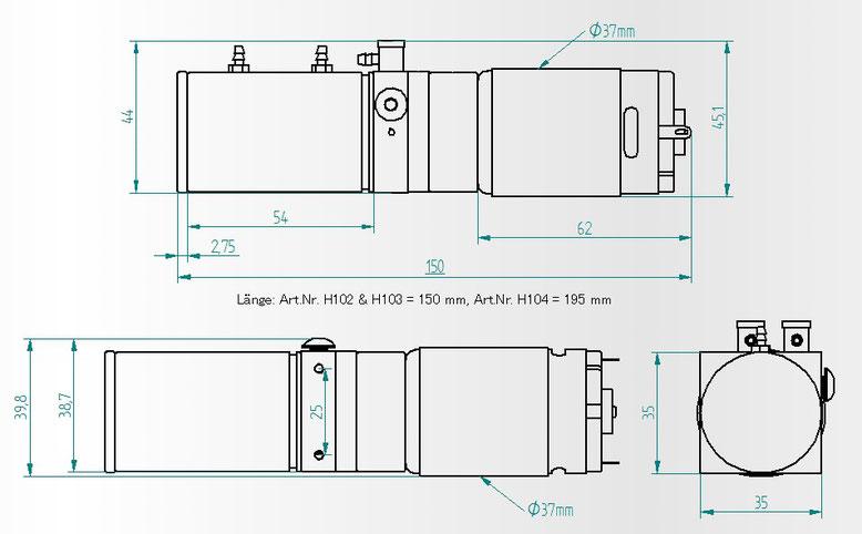 油圧ポンプの図面