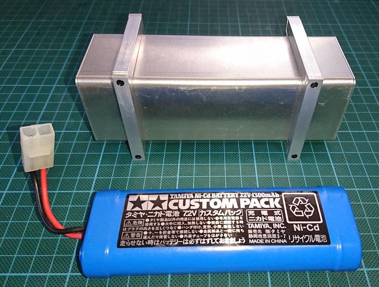 スカニアスキップコンテナの電池ケース(金属製燃料タンク)