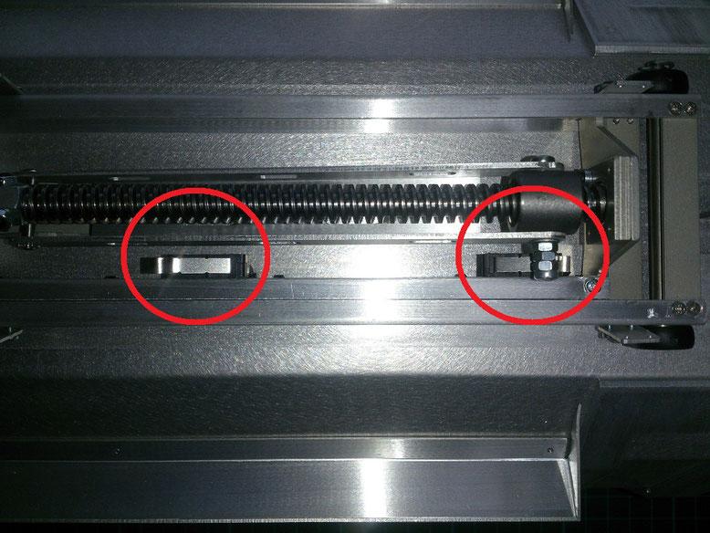 リミットスイッチの設置例(Servonaut 370)