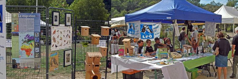 stand de la LPO Dracénie à Sillans lors de la Fête de l'Automne 2016