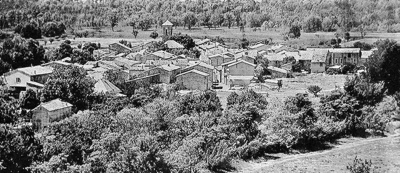 ancien village des Salles panneau du Mémorial