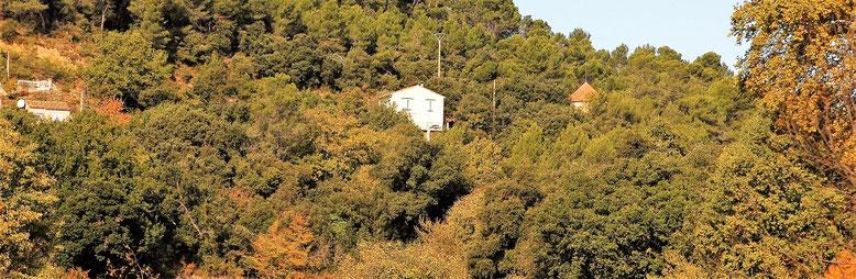 à droite, le toit du pigeonnier, dont dépasse l'antenne Bouygues