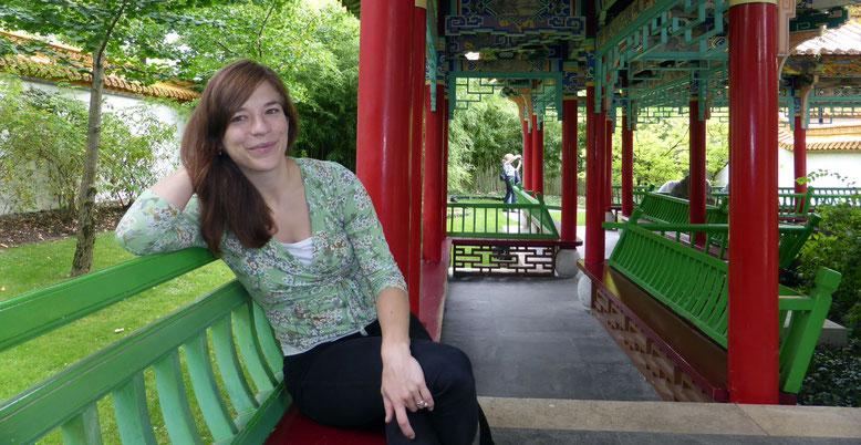 Diana Busch im chinesischen Garten Zürich
