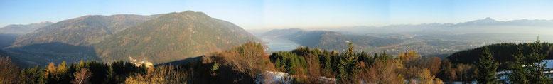 Gerlitzen, Ossiacher See, Landskron sowie Mittagskogel