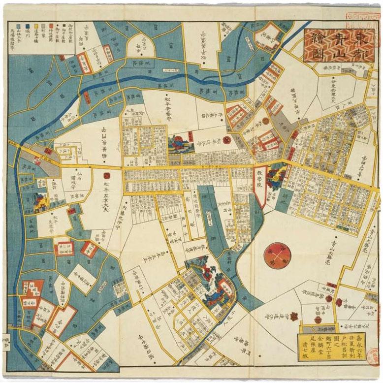 資料:江戸切絵図|東都青山絵図|国会図書館