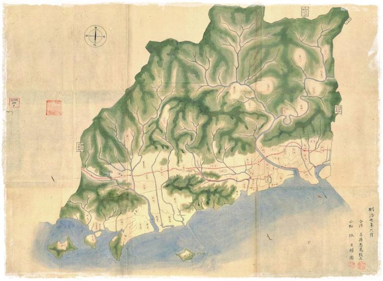 資料:愛媛県行政資料(幕政期・明治期)新居郡之図