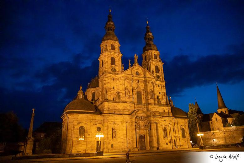 Dom Fulda bei Nacht