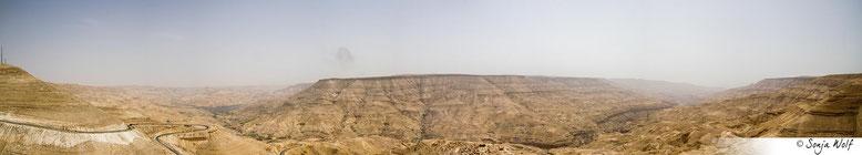 Wadi Mujib mit Stausee