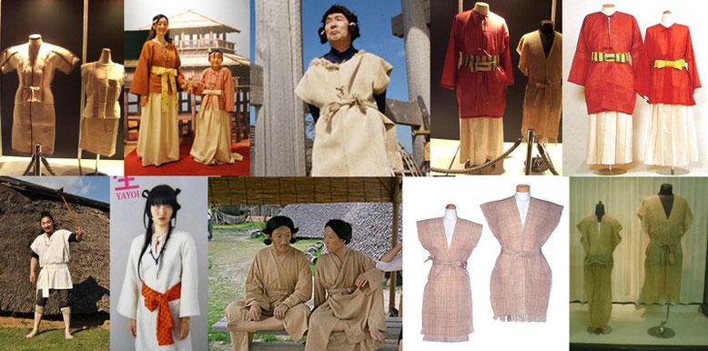 Webから拾ってきた弥生時代の衣装の写真
