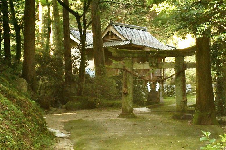 見えてきた後鳥羽神社の写真
