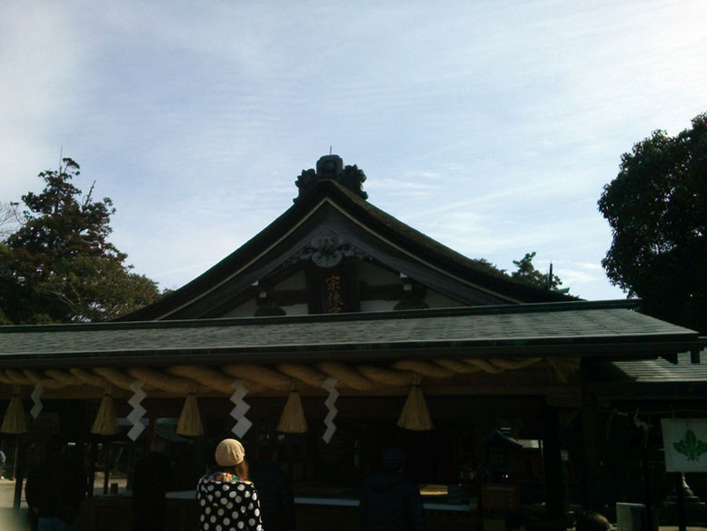 宗像大社辺津宮拝殿の写真