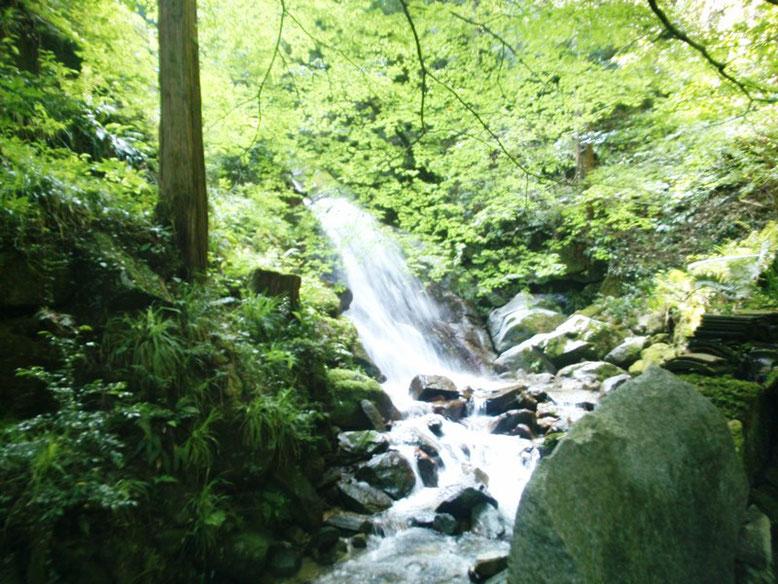 後鳥羽神社の滝の写真