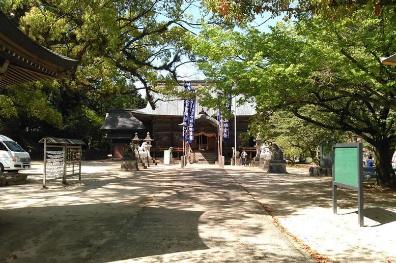 與止日女神社の普段の境内の様子