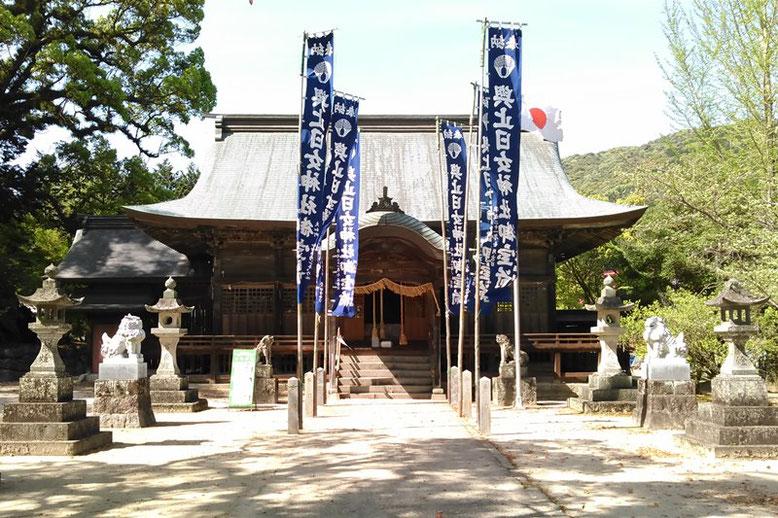 與止日女神社拝殿の写真