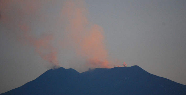 Triple éruption sur le cratère central de l'Etna