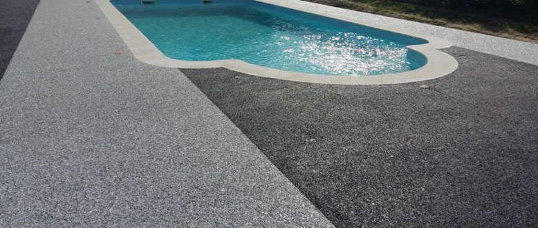 pavimento drenante para su piscina