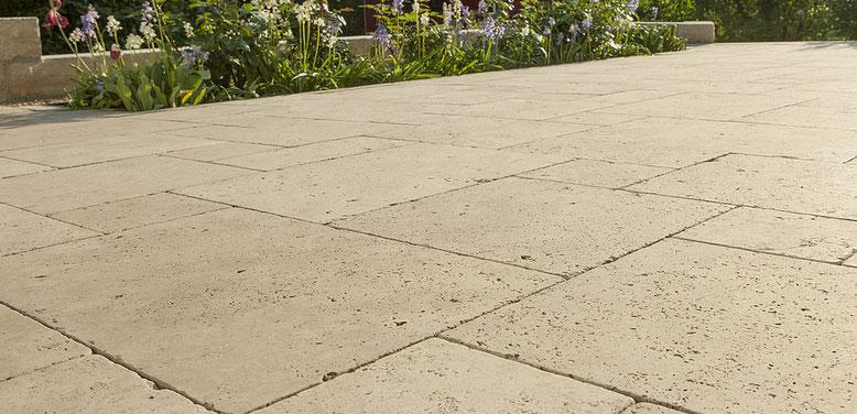 suelo para terraza en piedra natural