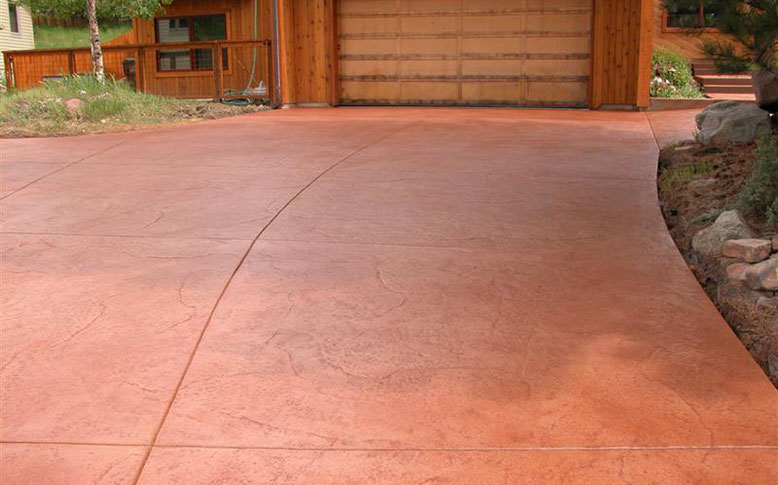 suelo de hormigón coloreado