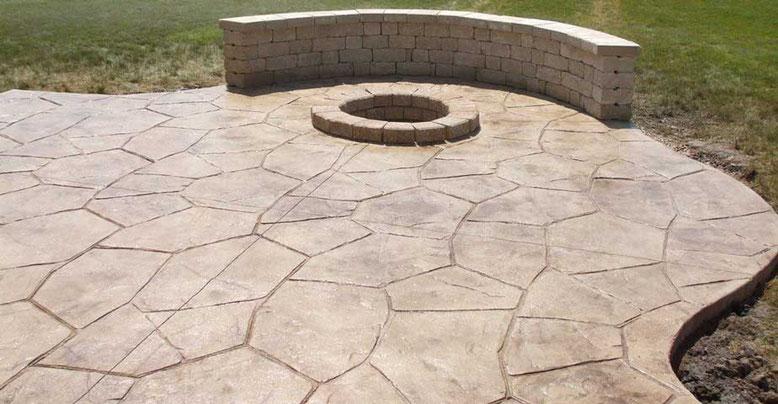 suelo para patio en hormigon impreso