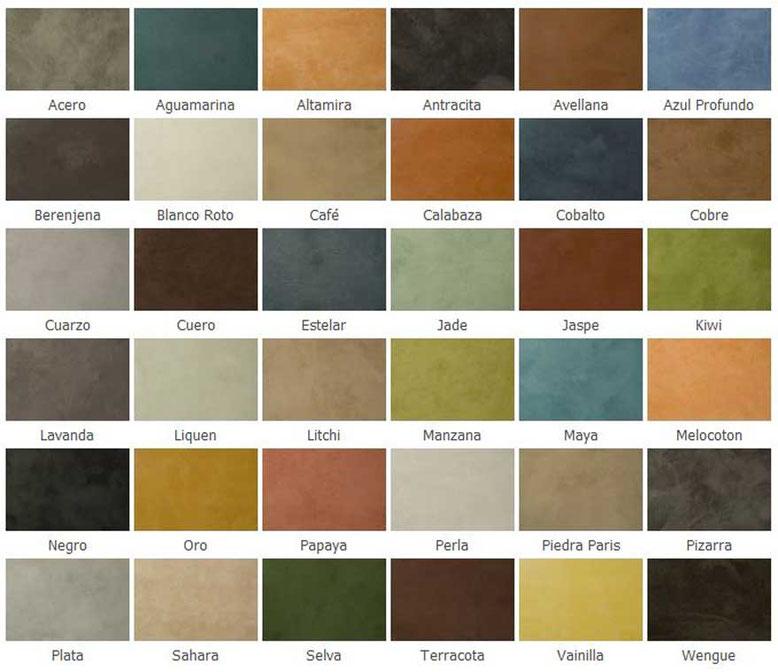 colores cuarzo hormigon pulido