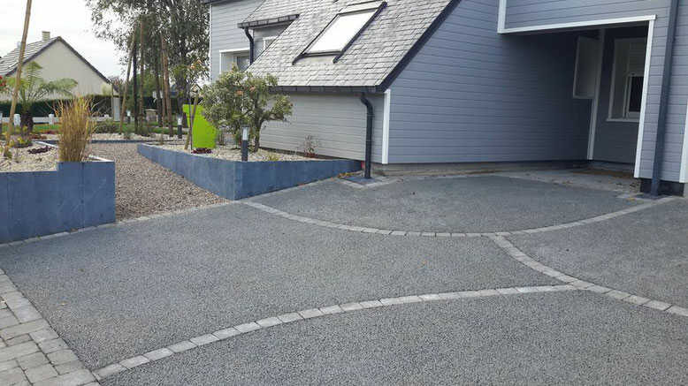 hormigón drenante parking