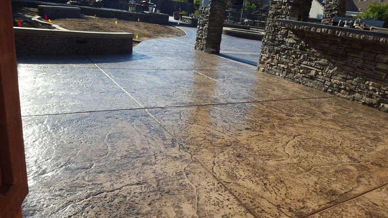 suelo hormigón imitación manta