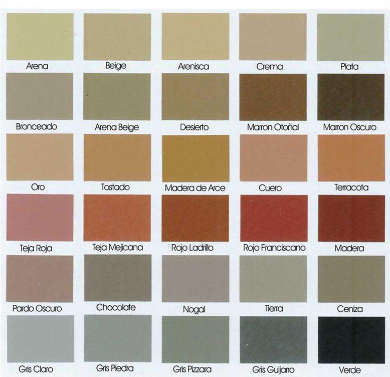 carta colores del pavimento impreso