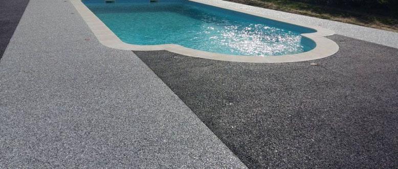 pavimento permeable para su piscina