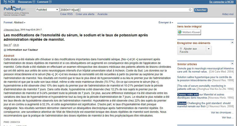 Traduction Google du site NCBI