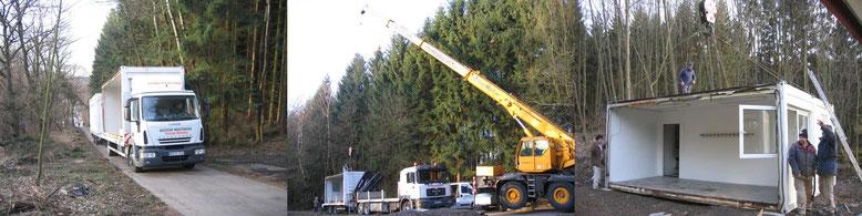 17. Februar: 2007 Anlieferung der Container