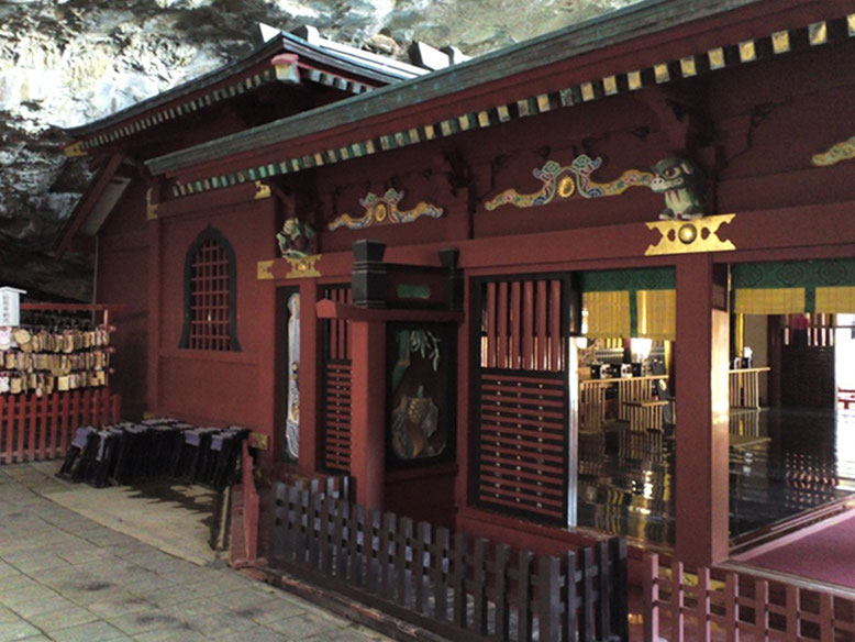 鵜戸神宮本殿左側の装飾部分の写真