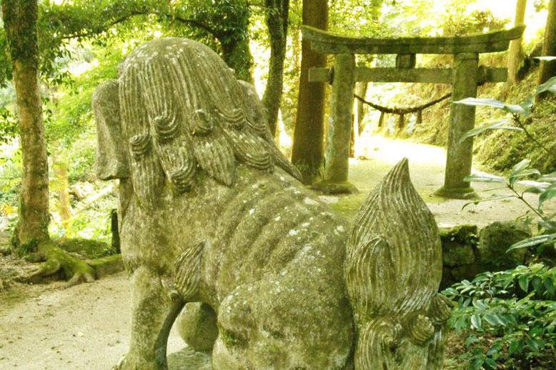 後鳥羽神社の狛犬01番の写真