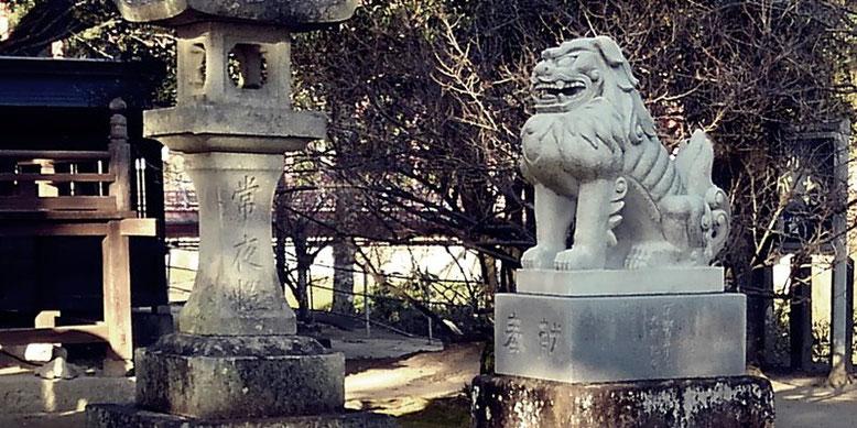 與止日女神社の狛犬02番の写真