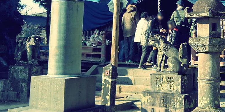 本庄神社の狛犬の写真