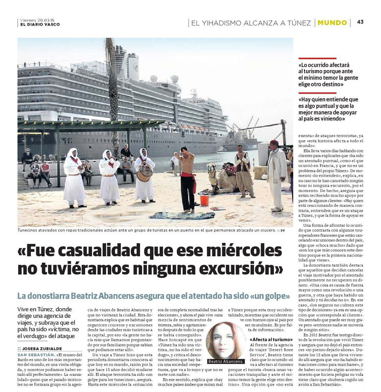 Entrevista atentado en Túnez