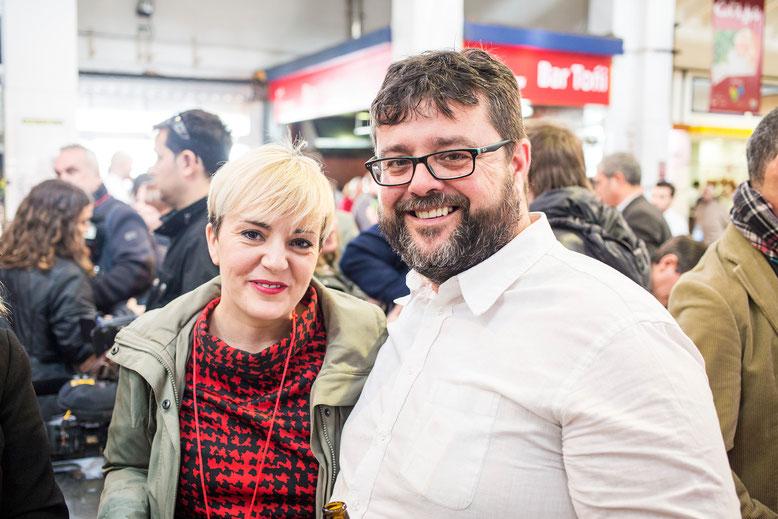 Bati Bordes con toda una institución: la bloguera gastronómica Garbancita. Xepo W. S.
