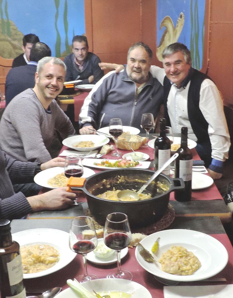 Juan Banda, Josep Lluís Polop y Pedro Durán