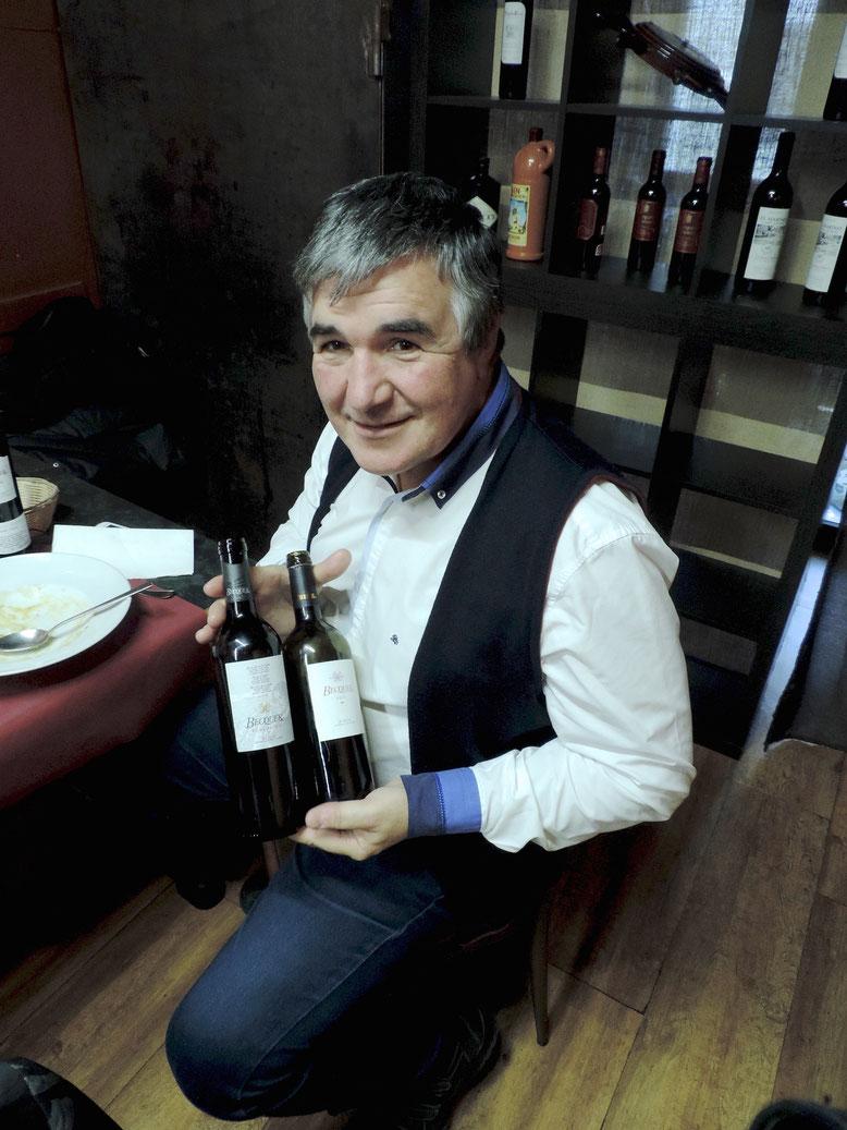 Pedro Durán nos dio a probar los vinos Becquer