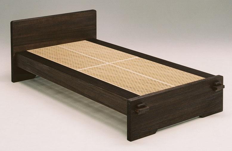 組子ベッド あんばい 焼桐仕上げ