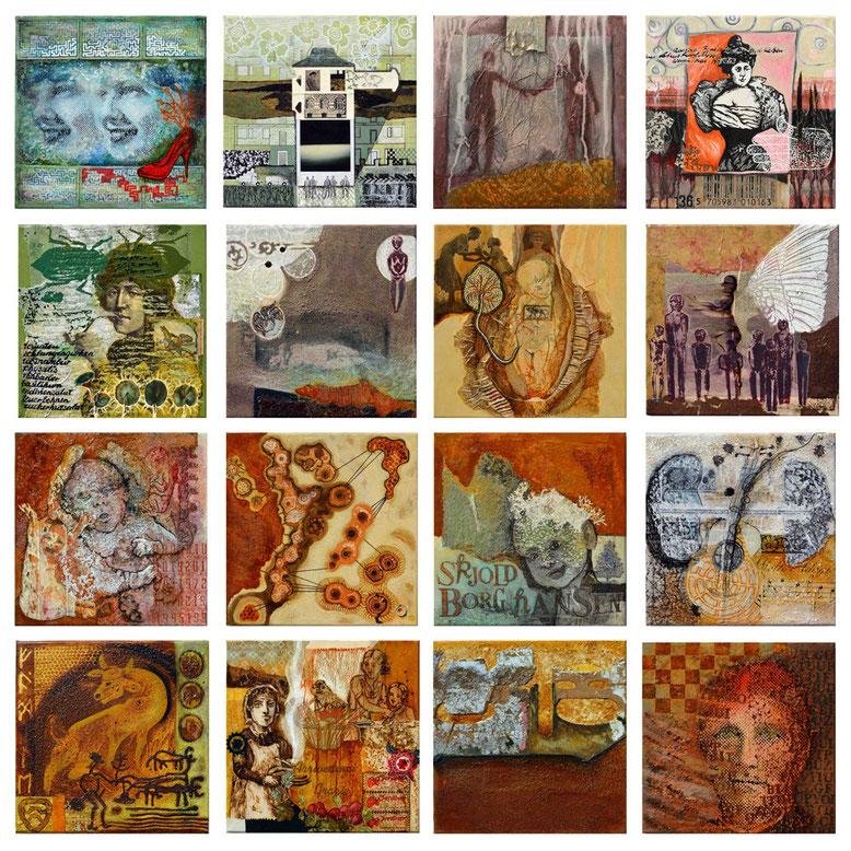 """""""Tina on my mind"""" Portrait 16 teilig (30x30) 2012"""