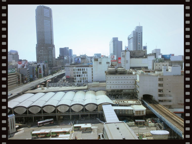 Shibuya Station _ View from above (2010)