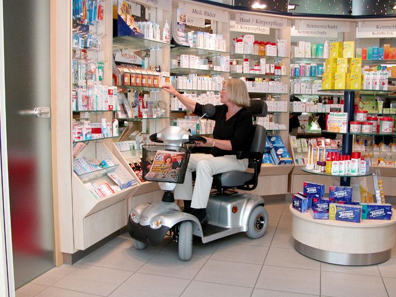 Ein Elektromobil für Behinderte