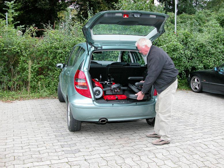 Faltbare Elektromobile von Mobilis für Senioren