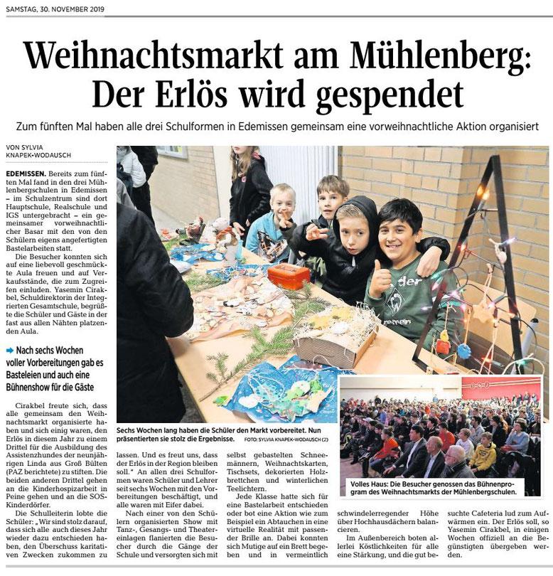 Peiner Allgemeine Zeitung, 30.11.2019