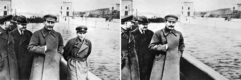 Ворошилов, Молотов, Сталин, Ежов.
