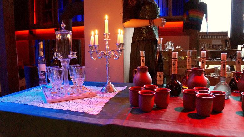 Spielmannshof Seitenroda Verkostungen von Wein und Absinth
