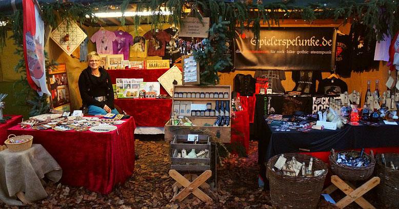 Spielmannshof Seitenroda und Spielerspelunke.de auf dem Weihnachtsmarkt in Orlamünde